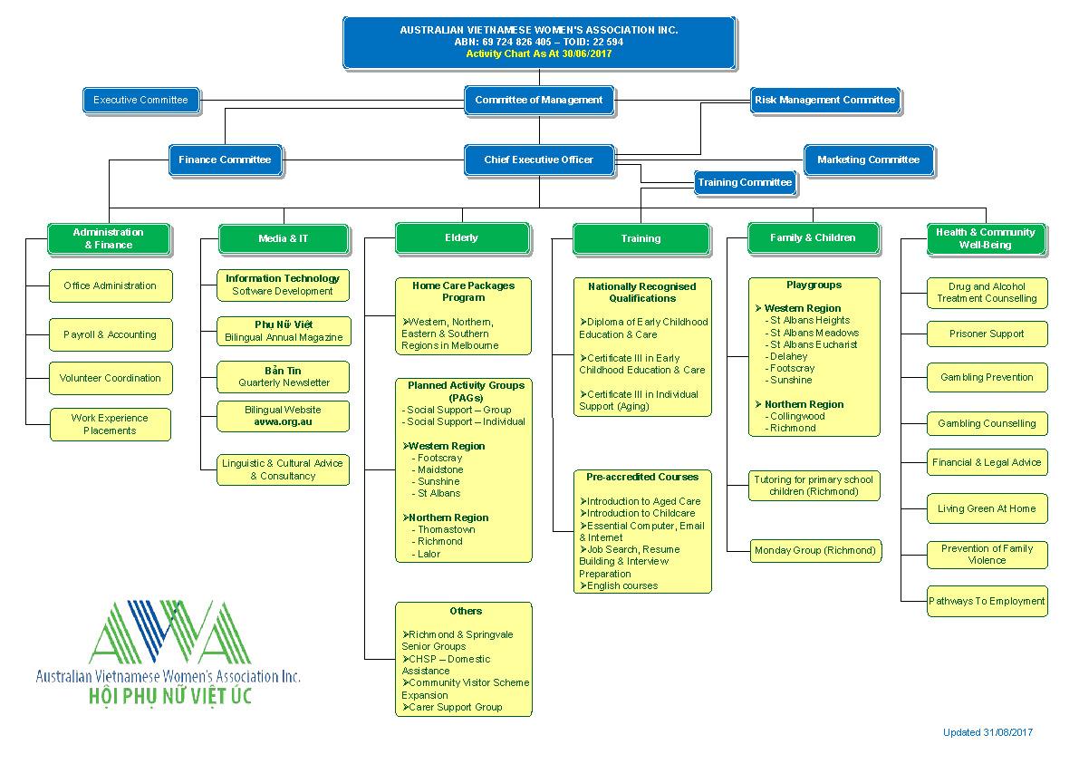 Australian Vietnamese Women's Association Inc  - Activity Chart